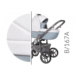 Bebello grey Baby Merc kombinovaný kočík s autosedačkou