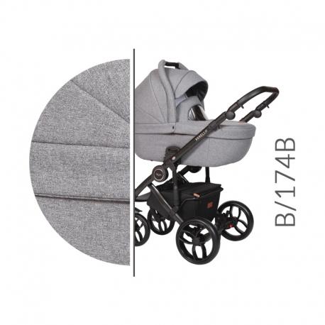 Bebello black Baby Merc kombinovaný kočík s autosedačkou