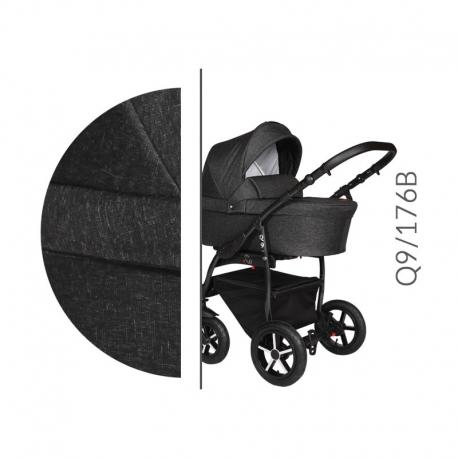 Q9 black Baby Merc kombinovaný kočík