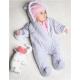 Zimný dojčenský overal Nicol Kids Winter sivý