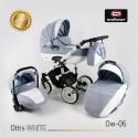 Ottis WHITE 3v1 Adbor kombinovaný kočík
