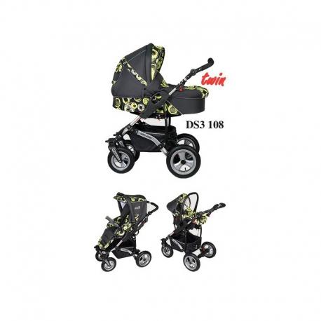 Danny Sport 3 line TWIN Dorjan kombinovaný kočík pre súrodencov