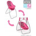 Jedálenská stolička a hojdačka PlayTo Isabella  2v1 pre bábiky